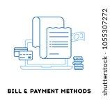 invoice  bill line icon | Shutterstock .eps vector #1055307272