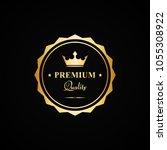 vector gold premium quality... | Shutterstock .eps vector #1055308922
