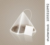tea bag pyramid shape isolated... | Shutterstock .eps vector #1055310992