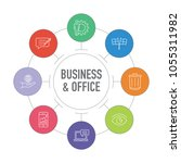 business and office infographic ... | Shutterstock .eps vector #1055311982