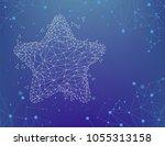 vector glowy  starry night ... | Shutterstock .eps vector #1055313158