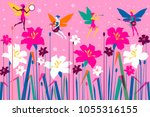 the fairy orchestra plays a...   Shutterstock .eps vector #1055316155