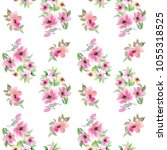 seamless floral background.... | Shutterstock . vector #1055318525