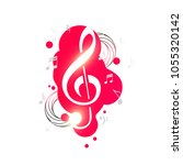 music background with treble... | Shutterstock .eps vector #1055320142