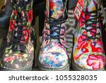 Floral Boots On Display At...
