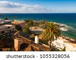 high angle view on la jolla... | Shutterstock . vector #1055328056
