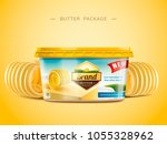 creamy butter package design ... | Shutterstock .eps vector #1055328962