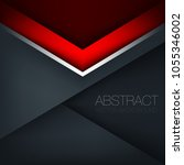 red triangle geometric vector... | Shutterstock .eps vector #1055346002