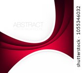 red curve line vector... | Shutterstock .eps vector #1055346032