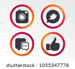 hipster photo camera icon. like ... | Shutterstock .eps vector #1055347778
