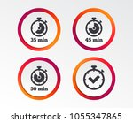 timer icons. 35  45 and 50... | Shutterstock .eps vector #1055347865
