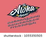 vector of stylized cursive font ... | Shutterstock .eps vector #1055350505