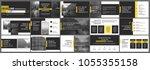 orange black presentation... | Shutterstock .eps vector #1055355158