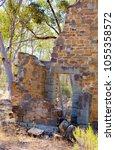 historic sandstone building... | Shutterstock . vector #1055358572