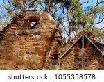 historic sandstone building... | Shutterstock . vector #1055358578