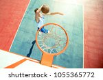 young man jumping and making a...   Shutterstock . vector #1055365772