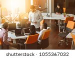 startup business people group... | Shutterstock . vector #1055367032