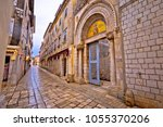 euphrasian basilica gate and... | Shutterstock . vector #1055370206