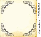 retro baroque decorations... | Shutterstock .eps vector #1055370638