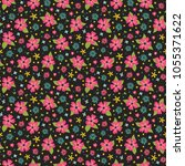 floral seamless pattern with... | Shutterstock .eps vector #1055371622
