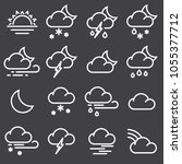 weather icons for print  web or ... | Shutterstock .eps vector #1055377712