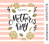 mother's day greeting card with ...   Shutterstock .eps vector #1055379176