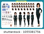 set of businesswoman character...   Shutterstock .eps vector #1055381756