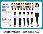 set of businesswoman character... | Shutterstock .eps vector #1055381762