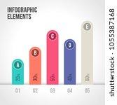 percentage bar chart vector... | Shutterstock .eps vector #1055387168