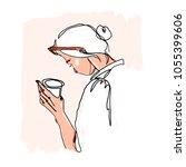 modern minimalist continuos... | Shutterstock .eps vector #1055399606