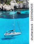 beautiful bay in mediterranean... | Shutterstock . vector #1055406935