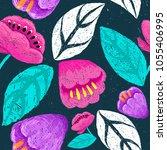 floral digital hand drawn... | Shutterstock .eps vector #1055406995