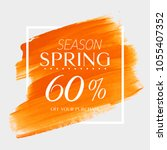 spring sale 60  off sign over... | Shutterstock .eps vector #1055407352