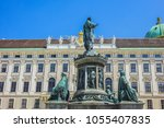 monument to emperor franz i of... | Shutterstock . vector #1055407835