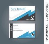 business card  blue modern ... | Shutterstock .eps vector #1055409488
