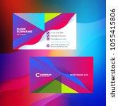double sided horizontal...   Shutterstock .eps vector #1055415806
