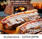 roasted picanha  traditional... | Shutterstock . vector #1055418998