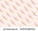 soft serve ice cream seamless... | Shutterstock .eps vector #1055438936