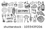 hand drawn vector illustrations.... | Shutterstock .eps vector #1055439206