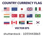 country currency flag vector... | Shutterstock .eps vector #1055443865
