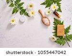 handmade soap closeup. natural...   Shutterstock . vector #1055447042