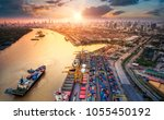 logistics and transportation of ... | Shutterstock . vector #1055450192