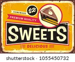 sweets and cakes vintage tin... | Shutterstock .eps vector #1055450732