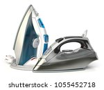 steam irons isolated on white... | Shutterstock . vector #1055452718