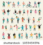 vector illustration in a flat... | Shutterstock .eps vector #1055454596