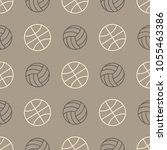 seamless pattern with balls... | Shutterstock .eps vector #1055463386
