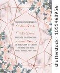 wedding invitation floral card... | Shutterstock .eps vector #1055463956