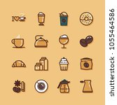 coffee flat icons   Shutterstock .eps vector #1055464586