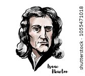 isaac newton watercolor vector... | Shutterstock .eps vector #1055471018