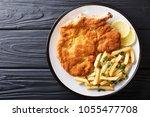 traditional italian veal... | Shutterstock . vector #1055477708